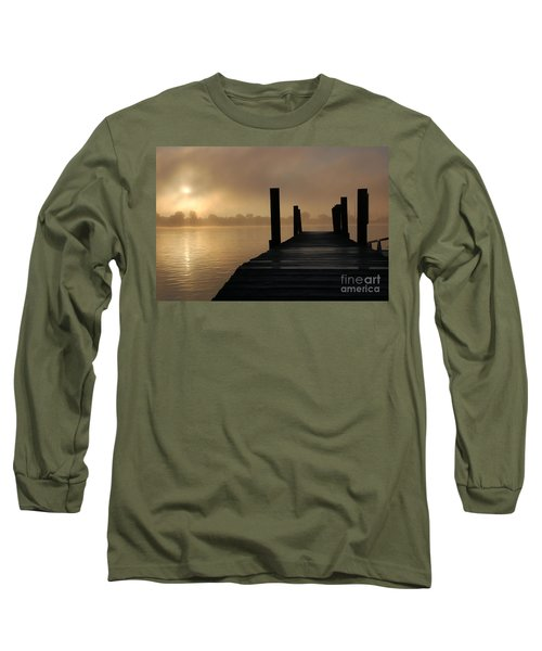 Dockside And A Good Morning Long Sleeve T-Shirt by Randy J Heath
