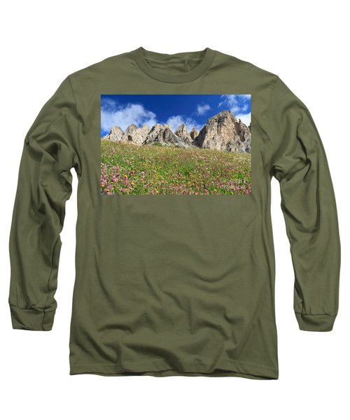 Long Sleeve T-Shirt featuring the photograph Dolomiti - Flowered Meadow  by Antonio Scarpi