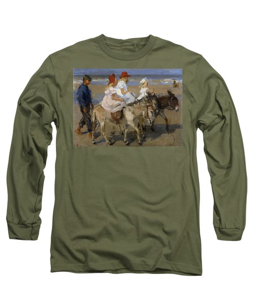 Donkey Rides Along The Beach Long Sleeve T-Shirt