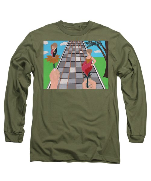 Long Sleeve T-Shirt featuring the painting Don't Get Strung Out by Barbara St Jean