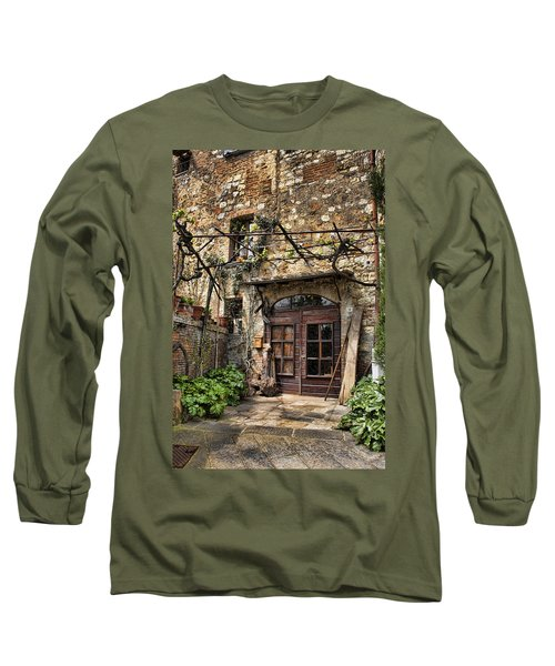 Long Sleeve T-Shirt featuring the photograph Door Montepulciano Italy by Hugh Smith