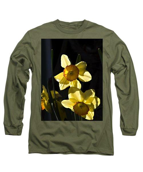 Dos Daffs Long Sleeve T-Shirt by Joe Schofield