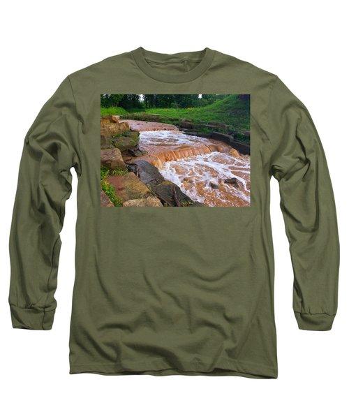 Down A Creek Long Sleeve T-Shirt by Chris Tarpening