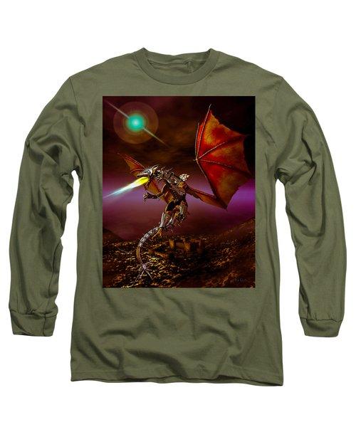 Dragon Rider Long Sleeve T-Shirt by Bob Orsillo