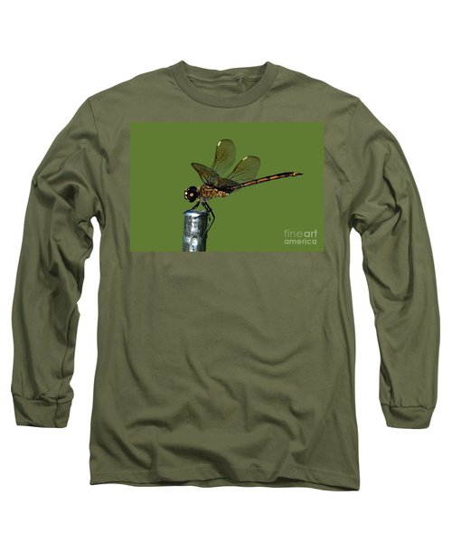 Long Sleeve T-Shirt featuring the photograph Dragonfly by Meg Rousher