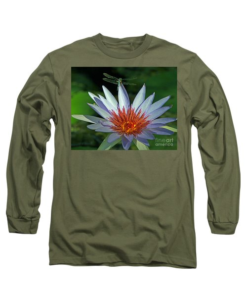 Long Sleeve T-Shirt featuring the photograph Dragonlily by Larry Nieland