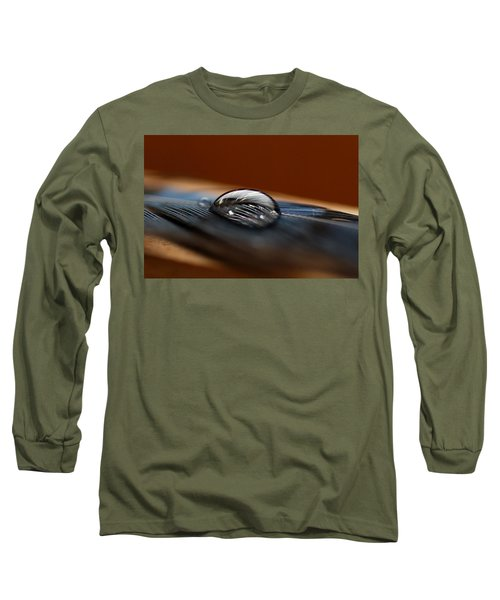 Drop On A Bluejay Feather Long Sleeve T-Shirt