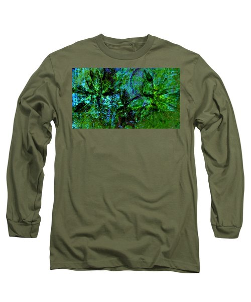 Long Sleeve T-Shirt featuring the mixed media Drowning by Ally  White