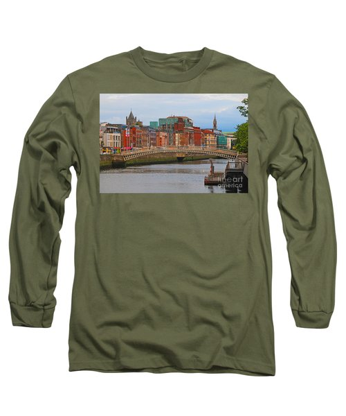 Dublin On The River Liffey Long Sleeve T-Shirt