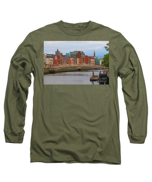 Dublin On The River Liffey Long Sleeve T-Shirt