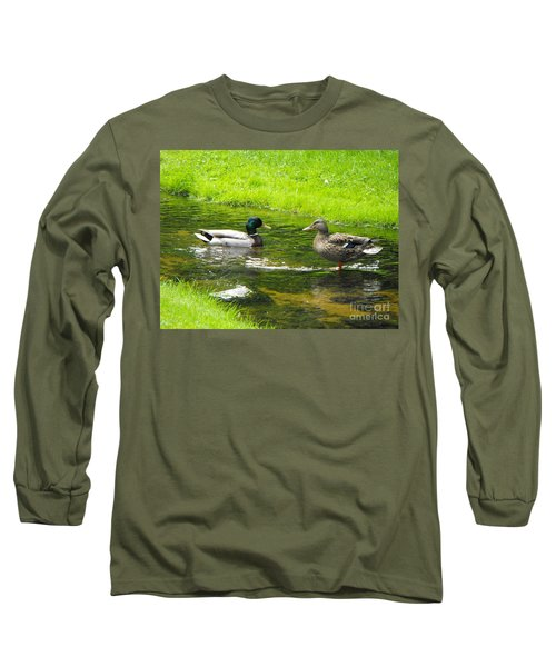 Duck Couple Long Sleeve T-Shirt