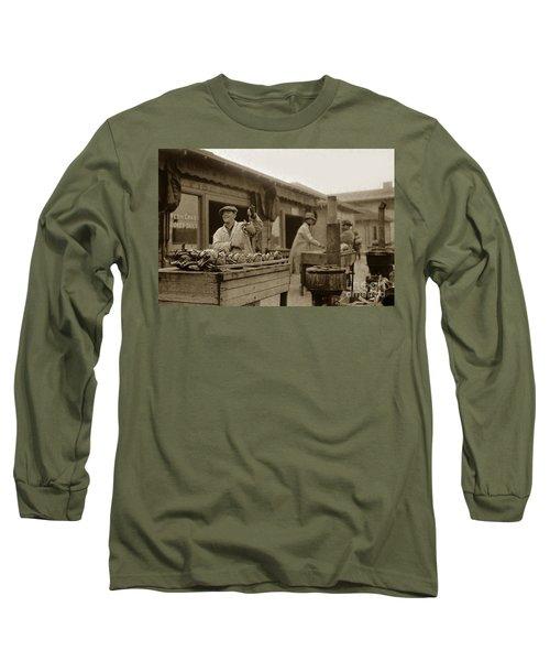 Dungeness Crabs At Fisherman's Wharf At San Francisco California. Circa 1935 Long Sleeve T-Shirt