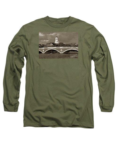 Weeks Bridge Charles River Bw Long Sleeve T-Shirt by Tom Wurl