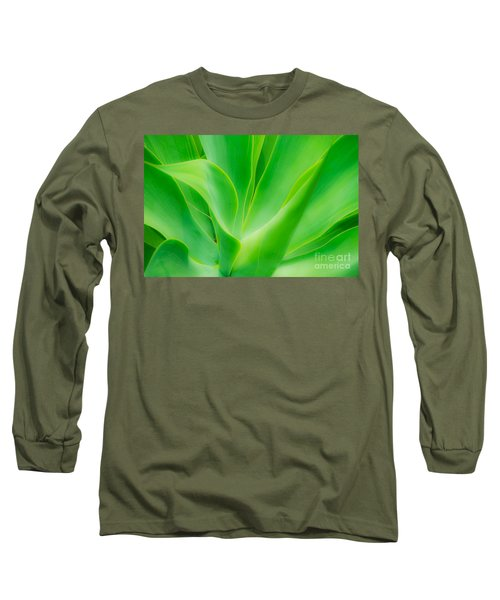 Dwarf Agave Long Sleeve T-Shirt by David Lawson