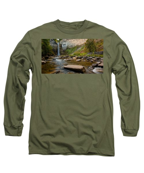 Early Autumn Morning At Taughannock Falls Long Sleeve T-Shirt