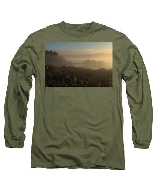 Early Morning Fog At Quoddy Long Sleeve T-Shirt