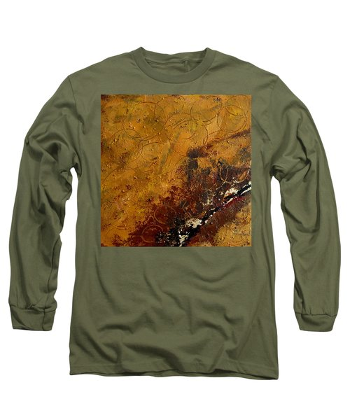 Earth Abstract Two Long Sleeve T-Shirt by Lance Headlee