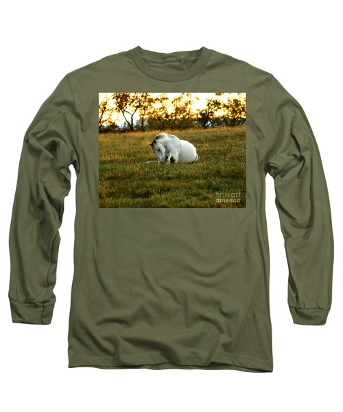 Easier Lying Down Long Sleeve T-Shirt by Carol Lynn Coronios