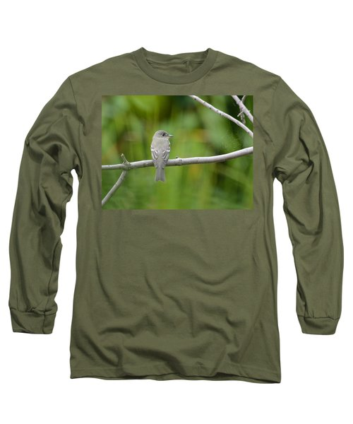 Eastern Wood Pewee Long Sleeve T-Shirt