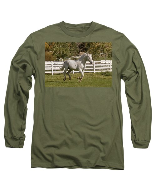 Long Sleeve T-Shirt featuring the photograph Effortless Gait D3028 by Wes and Dotty Weber