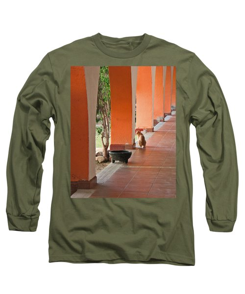 Long Sleeve T-Shirt featuring the photograph El Gato by Marcia Socolik