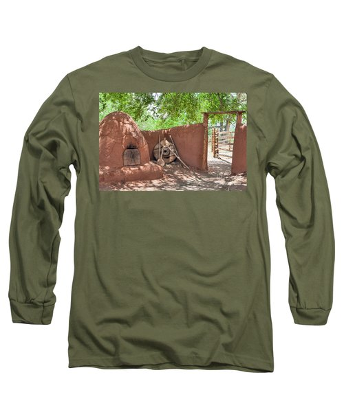 Long Sleeve T-Shirt featuring the photograph El Rancho De Las Golondrinas by Roselynne Broussard