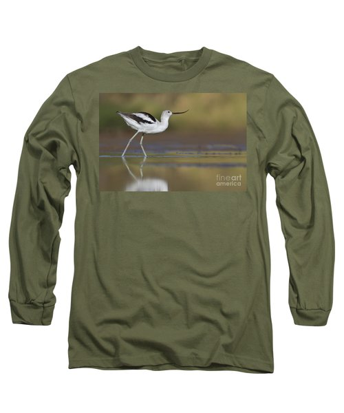Elegant Avocet Long Sleeve T-Shirt