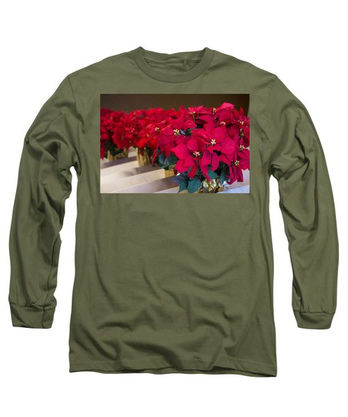 Long Sleeve T-Shirt featuring the photograph Elegant Poinsettias by Patricia Babbitt