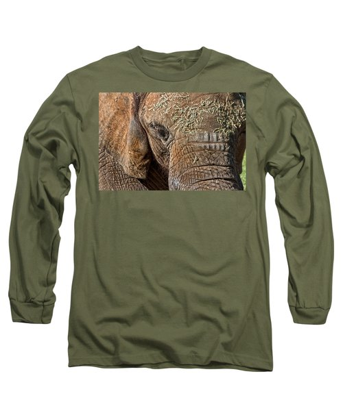 Elephant Never Forgets Long Sleeve T-Shirt by Miroslava Jurcik