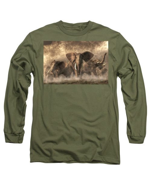 Elephant Stampede Long Sleeve T-Shirt