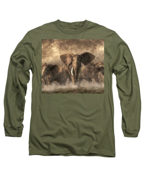 Elephant Stampede Long Sleeve T-Shirt