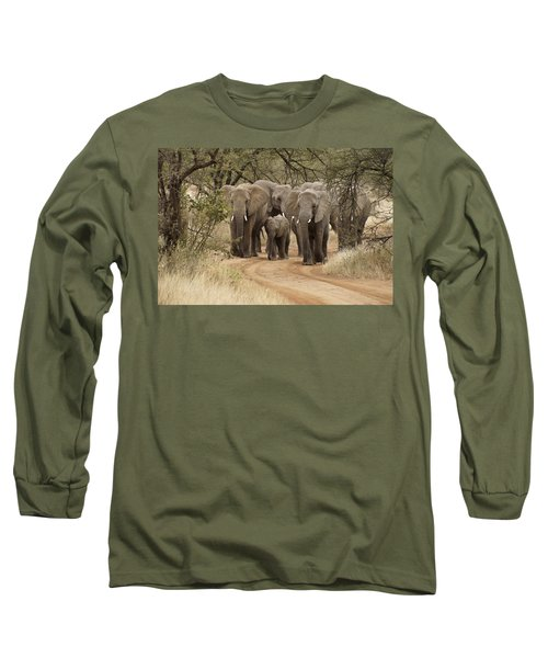 Elephants Have The Right Of Way Long Sleeve T-Shirt
