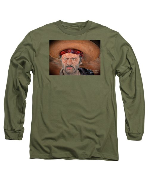 Eli Wallach As Tuco In The Good The Bad And The Ugly Version II Long Sleeve T-Shirt by Jim Fitzpatrick