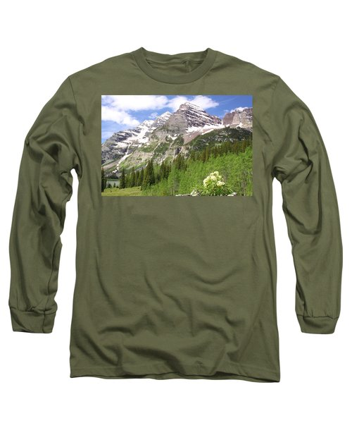 Elk Mountains Long Sleeve T-Shirt by Eric Glaser