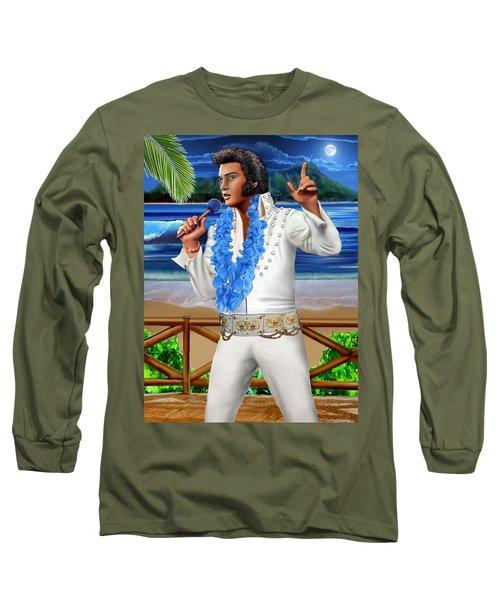 Elvis The Legend Long Sleeve T-Shirt by Glenn Holbrook