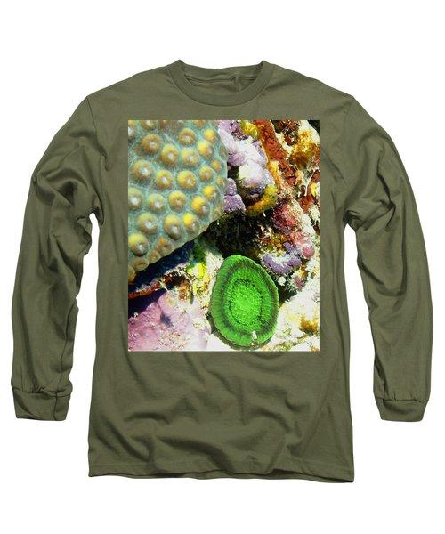 Emerald Artichoke Coral Long Sleeve T-Shirt by Amy McDaniel