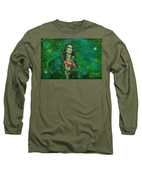 Emerald Universe Long Sleeve T-Shirt by Michael Rucker