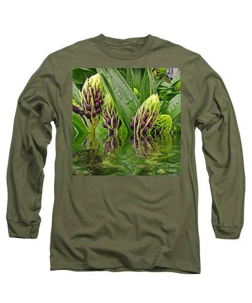 Emerging Long Sleeve T-Shirt by Debbie Portwood