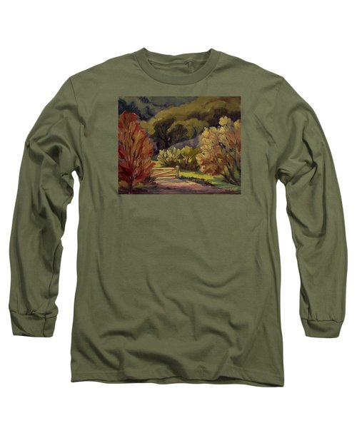End Of The Road Long Sleeve T-Shirt by Jane Thorpe