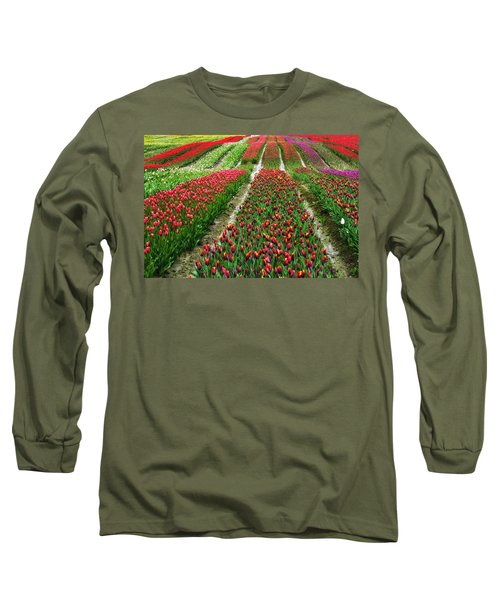 Endless Waves Of Tulips Long Sleeve T-Shirt