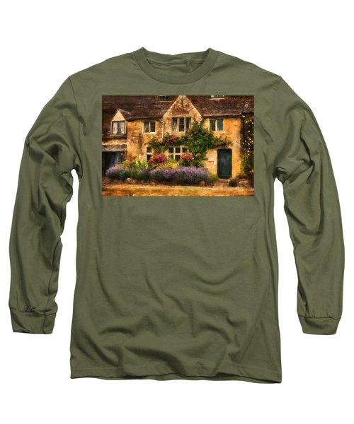 English Stone Cottage Long Sleeve T-Shirt