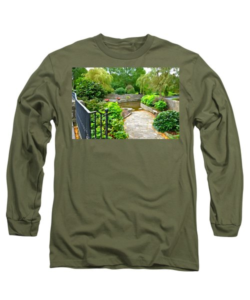 Enter The Garden Long Sleeve T-Shirt by Charlie and Norma Brock