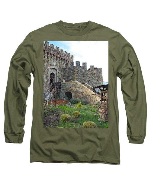 Entrance To Castello Di Amorosa In Napa Valley-ca Long Sleeve T-Shirt