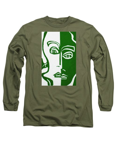 Long Sleeve T-Shirt featuring the painting Envy by Donna Tucker