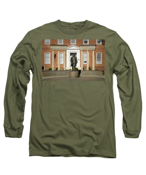 Long Sleeve T-Shirt featuring the photograph Equal Justice Under Law by Susan Candelario