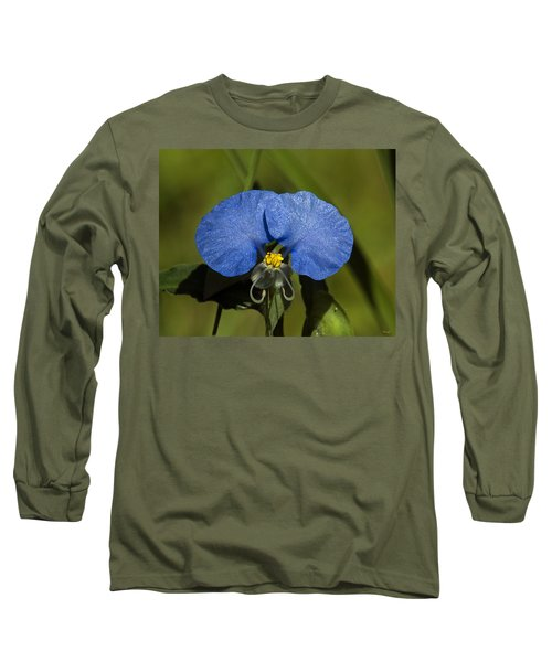 Erect Dayflower  Commelina Erecta Dsmf096 Long Sleeve T-Shirt