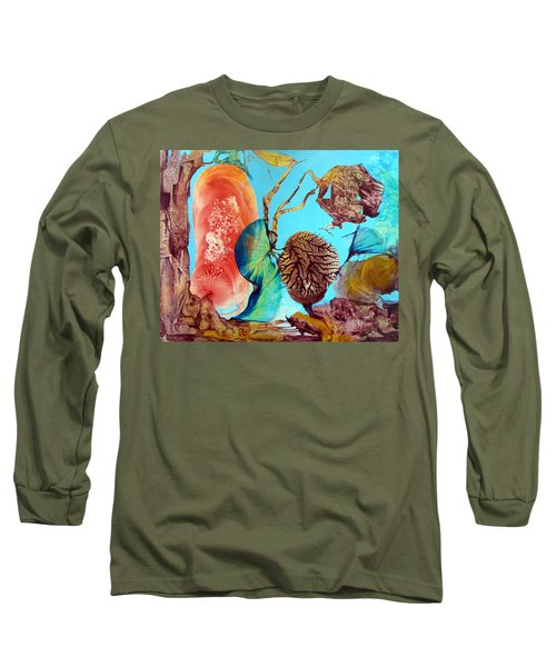 Long Sleeve T-Shirt featuring the painting Ernsthaftes Spiel Im Innerem Erdteil by Otto Rapp