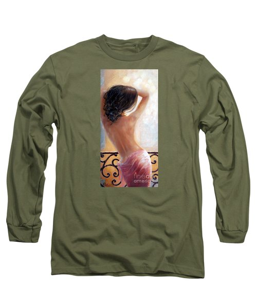 Long Sleeve T-Shirt featuring the painting Ephemeral by Michael Rock