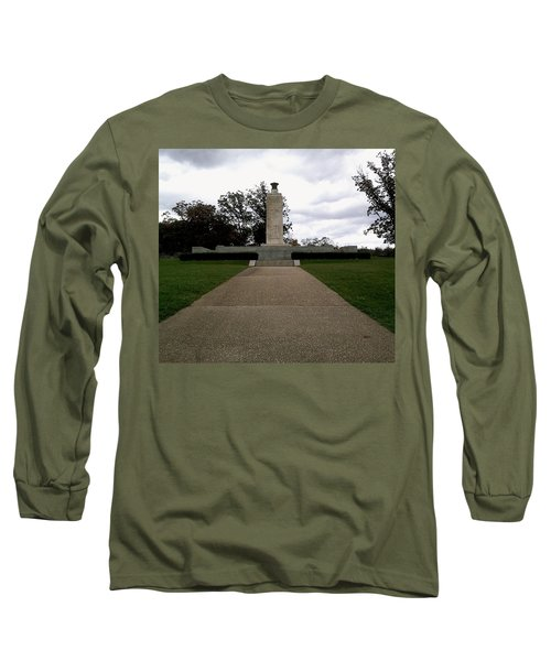 Long Sleeve T-Shirt featuring the photograph Eternal Light Peace Memorial by Amazing Photographs AKA Christian Wilson