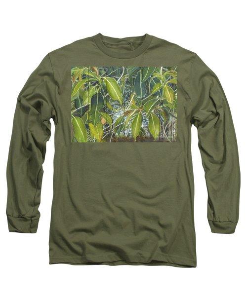 Euca - Leaves Section Long Sleeve T-Shirt by Kerryn Madsen-Pietsch